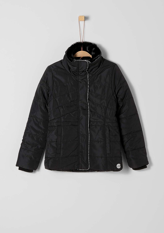 s.Oliver RED Label M/ädchen Wattierte Jacke mit Kunstfellkragen