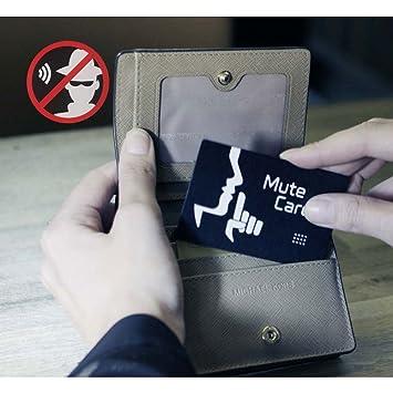 MuteCard - Protección contra Robo de Identidad y Datos | Proteja su Tarjeta de crédito de tecnología sin Contacto | Protege Todas Las Tarjetas Inteligentes ...