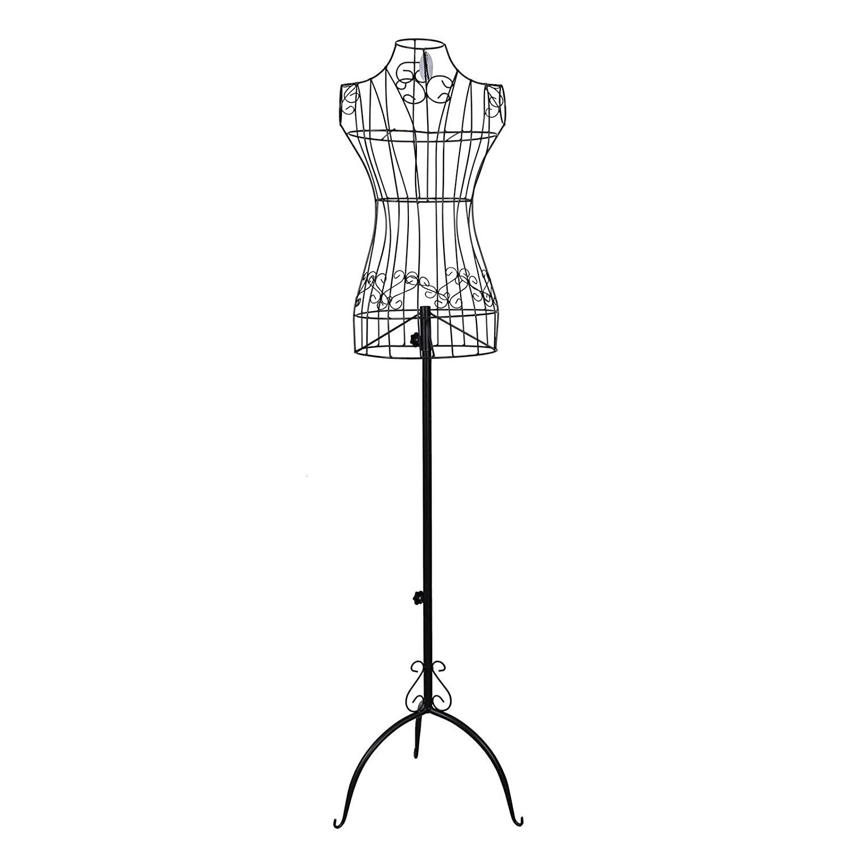Songmics donna Manichino Bianco Ferro Manichino Sartoriale Appendiabiti Altezza 170 cm circa HRA10W
