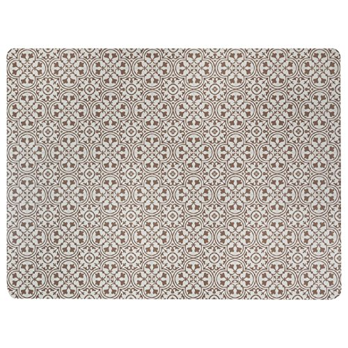 Vinyl Floor Mat, Durable, Soft Easy to Clean, Ideal Kitchen Floor, Dining Room Play Mat. Freestyle, Brick Deco Pattern (6 ft x 8 ft)