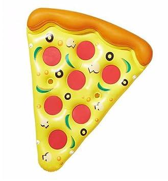 Mzj Flotador Inflable Gigante De La Piscina De La Rebanada De La Pizza, Flotador De
