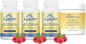 Lysulin - Powder + 3 Tablets - Blood Sugar Support Supplement - Natural Diabetic Formula for Glucose Control for Type 2 Diabetes Or Prediabetes - 2 Formats - 4 Months Supply