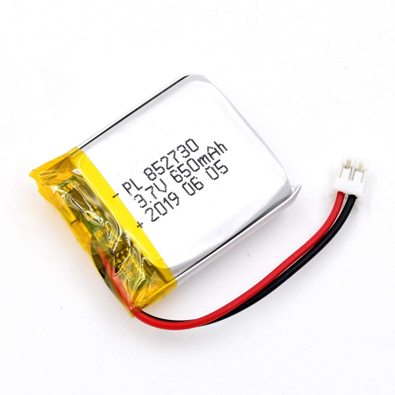 Bateria Lipo 3.7V 650mAh 852730 Recargable JST Conector