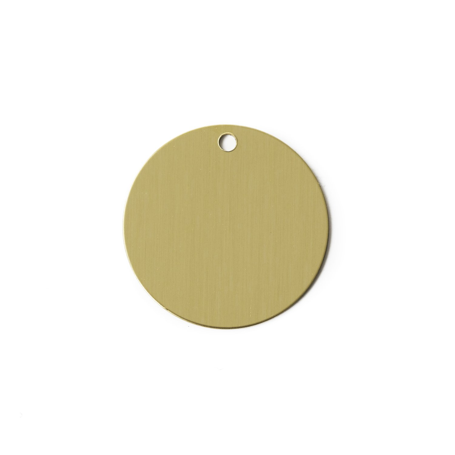 RMP Stamping Blanks, 1 Round With Hole, .032 (20 Gauge) Brass - 20 Pack 1 Round With Hole Rose Metal Products