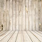 HUAYI 8x8ft Light Yellow Wood Wall Wooden Floor Photography Backdrops Background Photo Props For Wedding Newborn Xt-1799