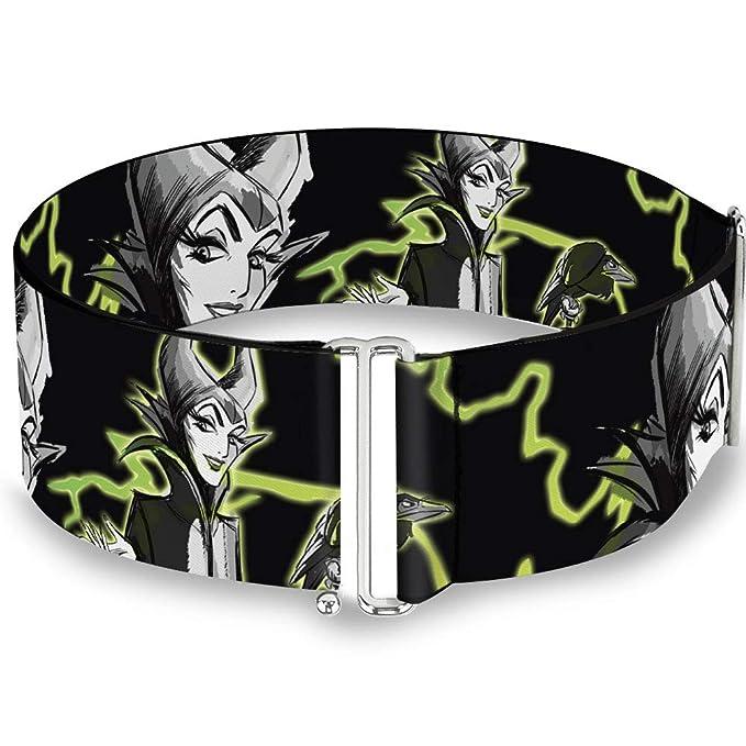 Buckle-Down Women's Cinch Belt Maleficent Diablo Lightning