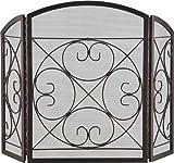 Cheap HOMEBASIX CPO90502AC3L 3-Panel Fire Screen, Antique Bronze Finish