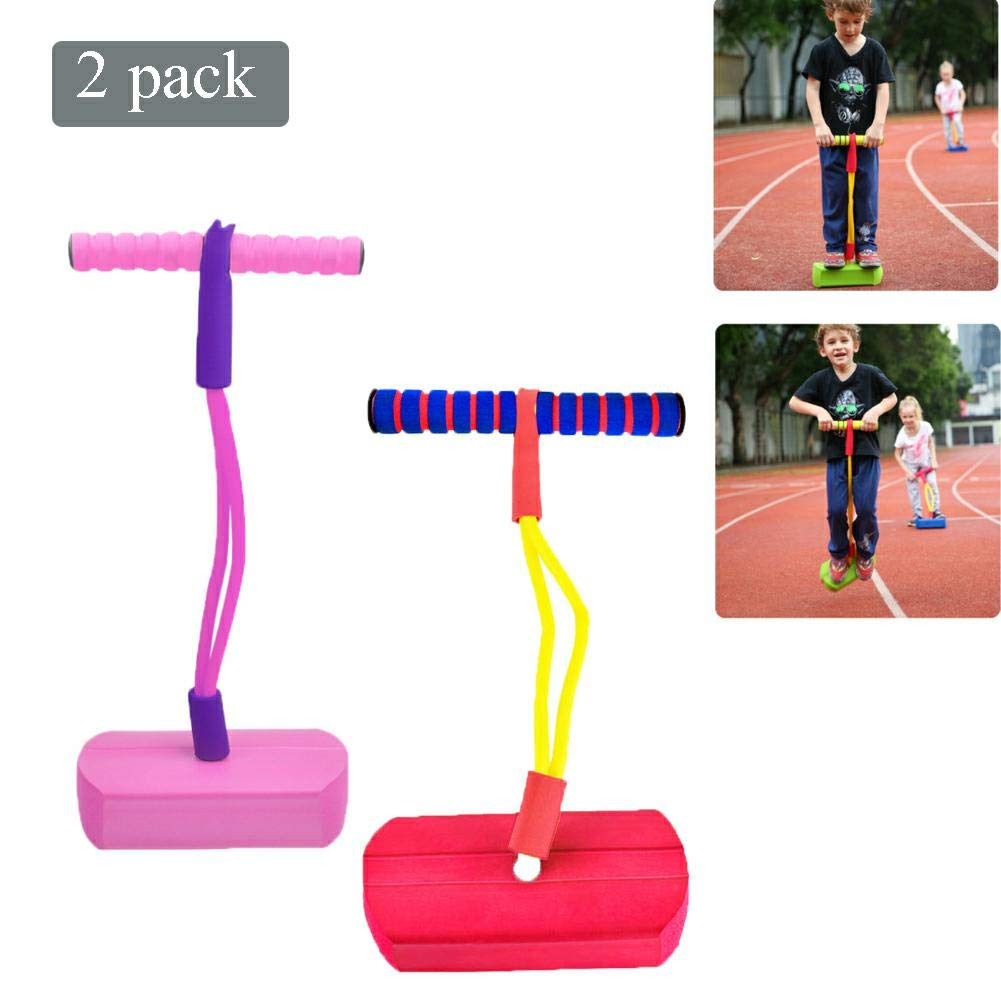 Pogo Stick Children's Jumping Stick Toy Bouncing Bubble Jumper Durable for Boys and Girls,D