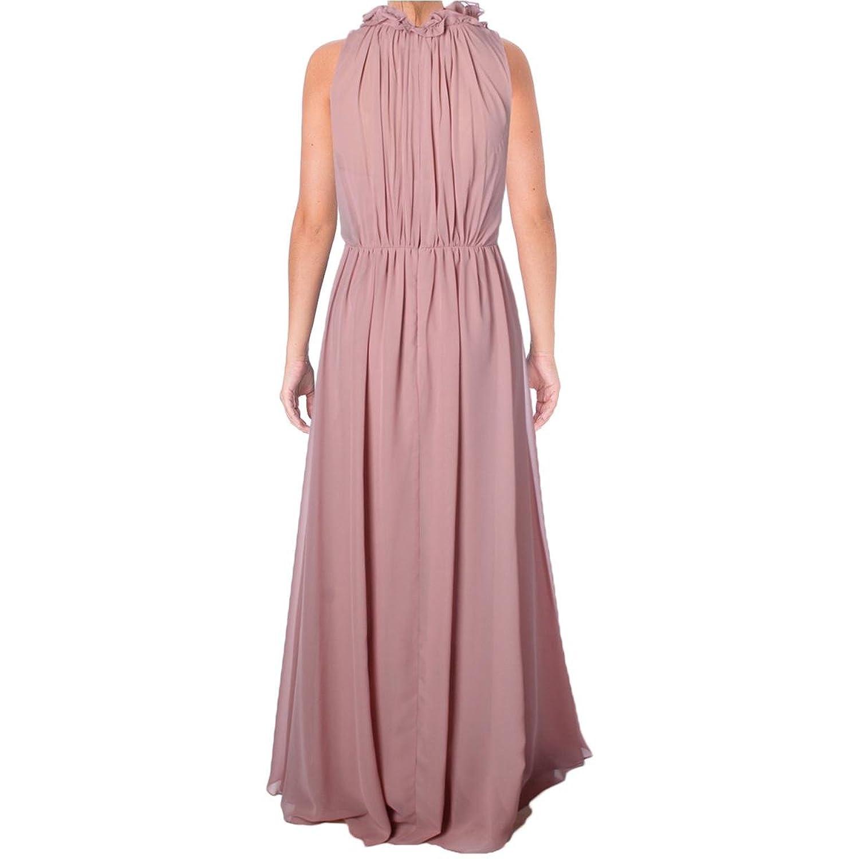 Vera Wang Womens Chiffon Gathered Evening Dress Pink 10 at Amazon ...