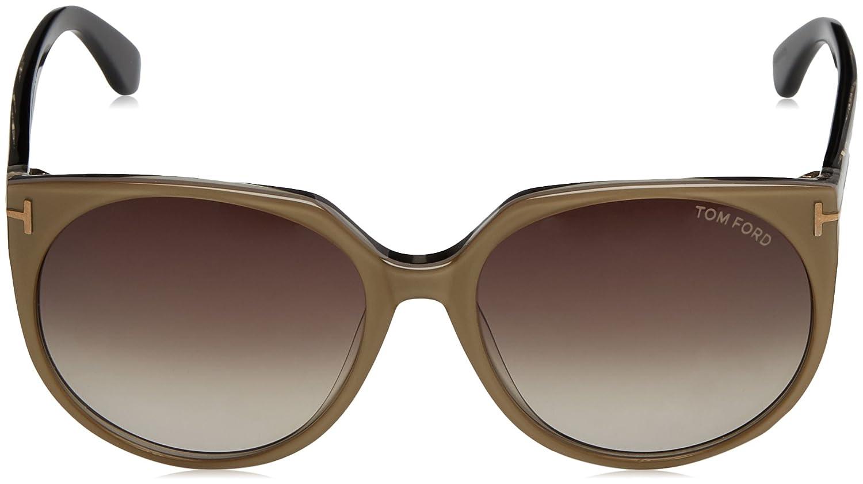 4c15437f74f2c Amazon.com  Tom Ford Agatha Sunglasses FT0370 38B