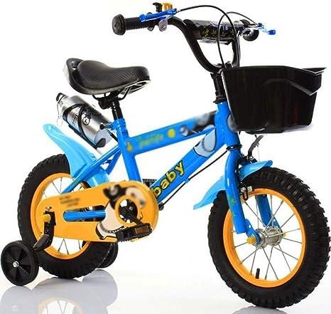 M-YN Bicicleta Niños con Ruedines Bicicletas for niños 3 4 5 6 7 8 ...