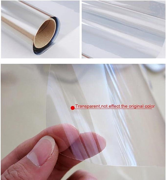 76cm*10m Happyroom Trasparente in Vetro Finestra Pellicola autoadesiva Pellicola Protettiva Trasparente per finestrini a Prova di Esplosione Trasparente di Sicurezza Finestra Adesivi 76cm*10m