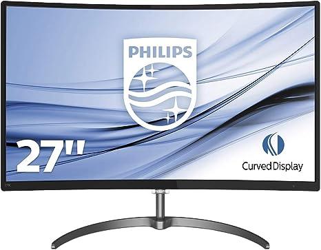 Philips 278E8QJAB / 00 E-line Monitor LCD curvo de 27 pulgadas con monitor Ultra Wide-Color Full HD (1920 x 1080) - Negro: Philips: Amazon.es: Informática
