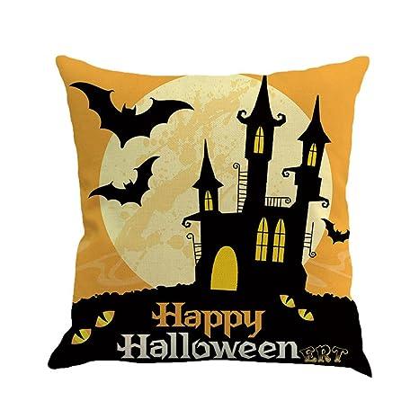 Guo Nuoen - Funda de cojín con Estampado de Halloween para ...