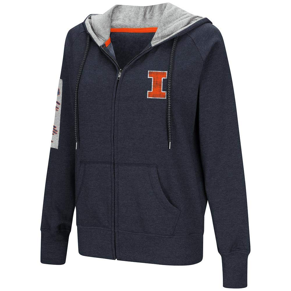 Colosseum レディース Illinois Fighting Illini フルジップパーカー B07GT8DJ11  Medium