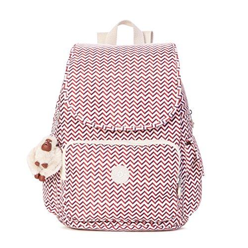 Kipling Women's Ravier Medium Solid Backpack, Zest Red (Backpack Kipling Red)