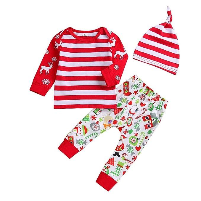 Natale Pagliaccetto Neonato ASHOP Felpa Vestiti dei Bambini T-Shirt A  Maniche Lunghe per Bebè c9e2bf8ce49