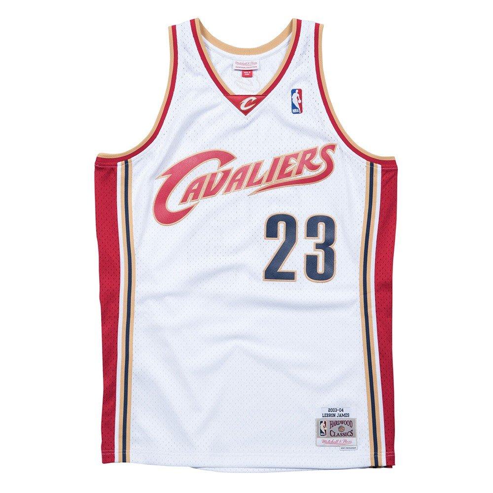 e4f49eea Amazon.com : Mitchell & Ness LeBron James 2003-04 Cleveland Cavaliers  Swingman Home Jersey : Sports & Outdoors