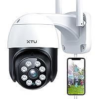 Security Camera Outdoor/Indoor, XTU 1080P WiFi Home Security PTZ Camera, 360°View Surveillance IP Camera with Night…