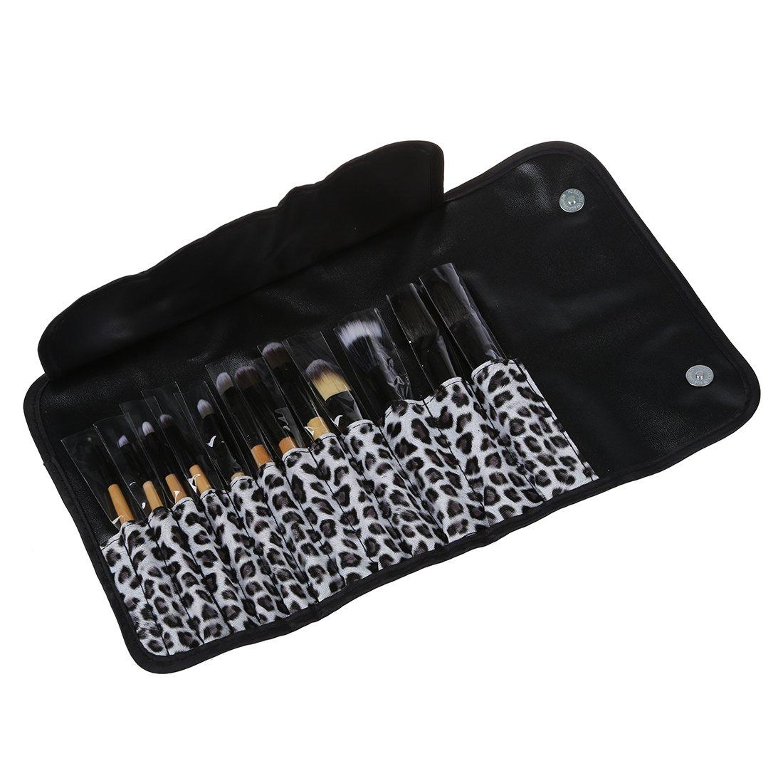 SODIAL(R) 12 PCS Makeup Cosmetic Toiletry Eyeshadow Powder Brush Set Kit+Case 019157