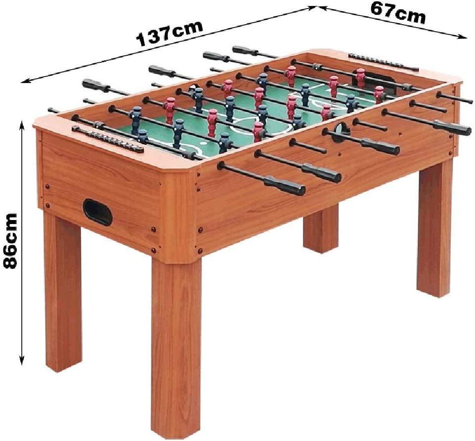 Amazon Com Softneco 55 Inch Foosball Table Wooden Competition Sized Tabletop Soccer Game For Home Party Heavy Duty Football Table For Kids And Adult A Sports Outdoors