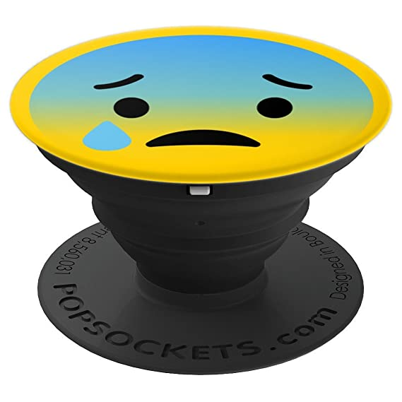 Amazon Emoji Cold Tear Sad Face Pop Socket Emoticon Smiley