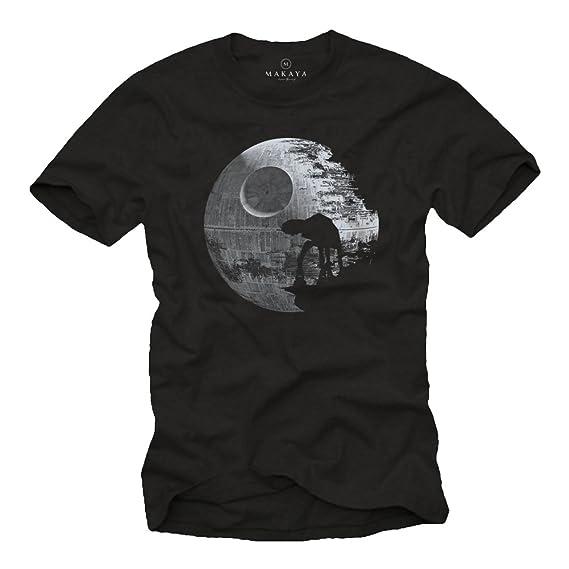 MAKAYA Camisetas Frikis - Hombre Negra S