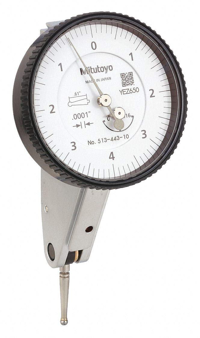 .016 IN WHITE DIAL TILTED .0001 IN GRAD MID SET Mitutoyo 513-443-10A DIAL TI