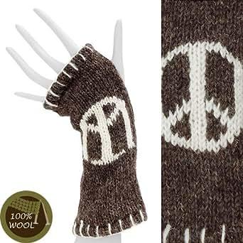 Amazon.com: Wool Fingerless Gloves with Thumbhole Fleece