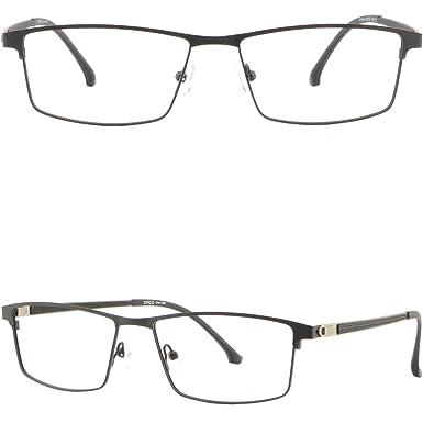 849b0f6767f Image Unavailable. Image not available for. Color  Light Mens Titanium Frame  Large Metal Prescription Glasses Wide Sunglasses Black