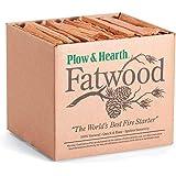 Plow & Hearth - Arrancador de fuego de madera de fatwood en caja de resina orgánica natural, respetuoso con el medio ambiente
