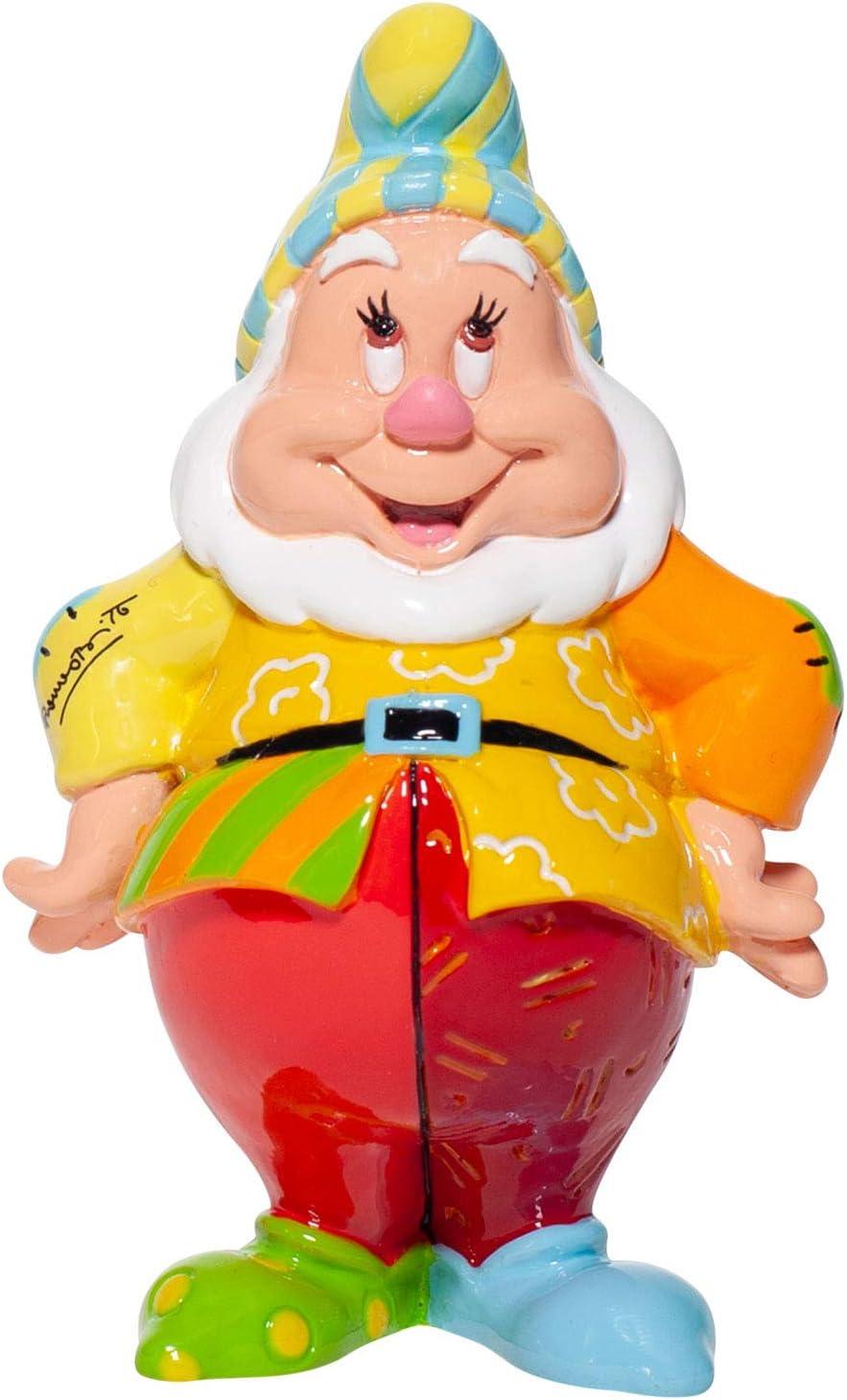 Enesco Disney by Romero Britto Snow White and The Seven Dwarfs Happy Miniature Figurine, 4.7 Inch, Multicolor
