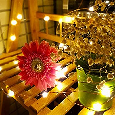 Valentinyii LED Solar String Lights - 20 ft 30 LED Water Drop Fairy Solar Lights Outdoor, 8 Modes Waterproof Solar Lights for Outdoor/Indoor Home, Garden, Wedding and Holiday Decoration