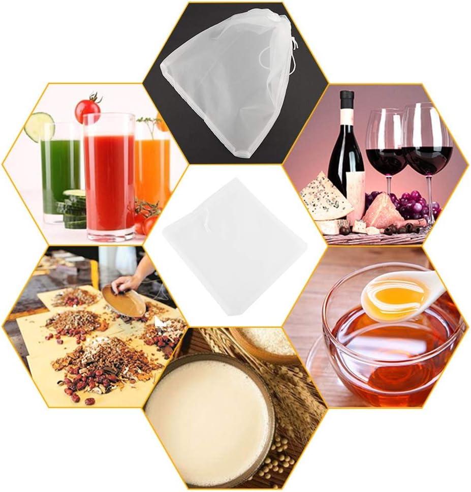 Sachet filtre /à noix Filtre /à maille en nylon Passoire Sac /à filtre /à lait amande Tamis de cuisine r/éutilisable