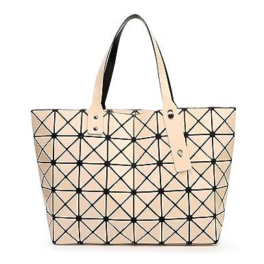 6a0420120e065 Damen Geometrie Faltbar Tote Schultertasche Top-Griff Tasche Hobo Satchel  Handtasche Für Frauen