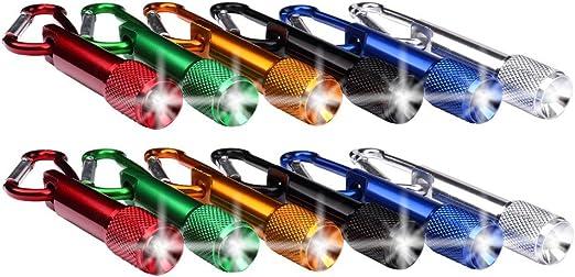 Mini LED Taschenlampe Taschenlampen Lampen Licht Schlüsselanhänger Karabiner!