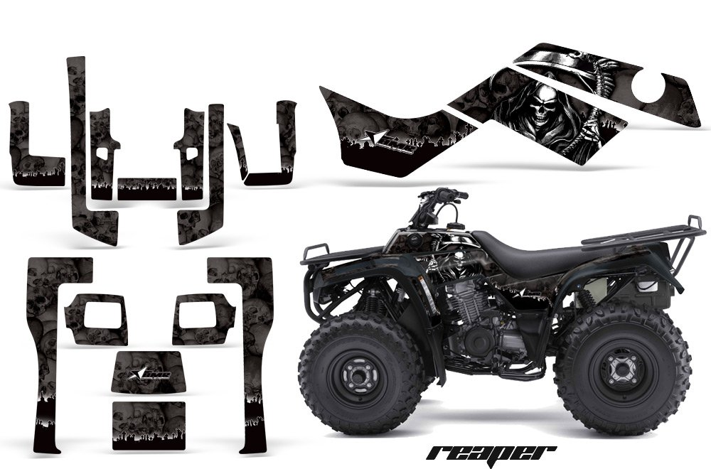 AMR Racing GraphicsキットATV Kawasaki Bayou 250 2003 – 2012 Reaperブラック B079B6TMH1