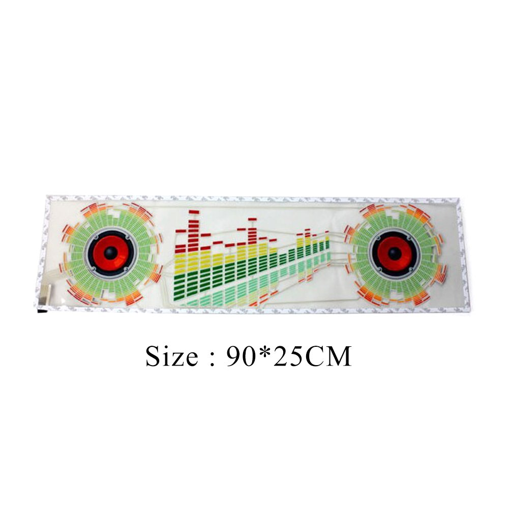 iNewcow Auto Music Rhythm Lamp Sound Voice Beat Glow LED Light Car Activated Equalizer Stickers 9025CM by iNewcow (Image #3)