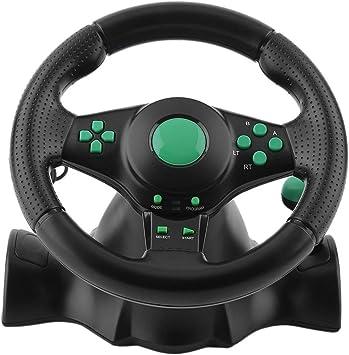 Rotación de 180 Grados Gaming Vibration Racing Volante con Pedales ...