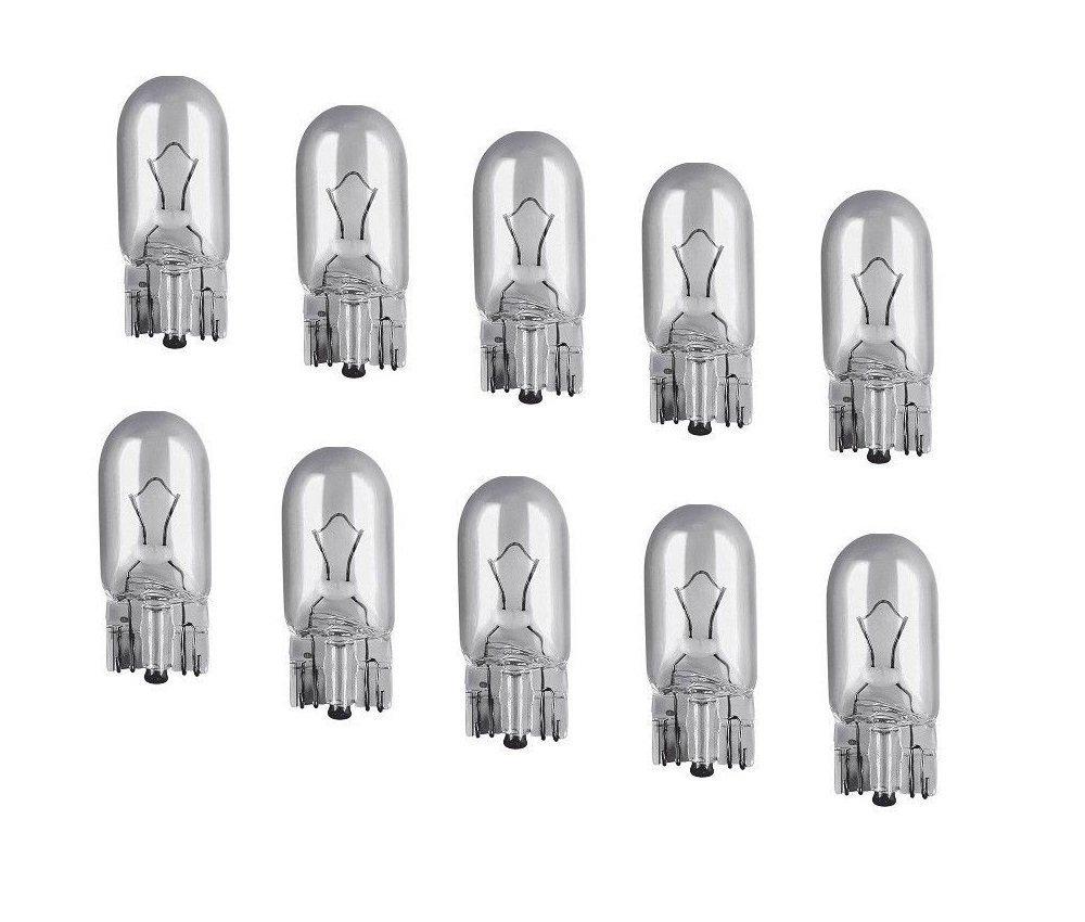 10 Stü ck W5W Standlicht Lampen 12V 5Watt Fassung 2.1x9.5d Glassockellampen. Top Qualitä t 10x W5W mit E Prü fzeichen Kummert Business