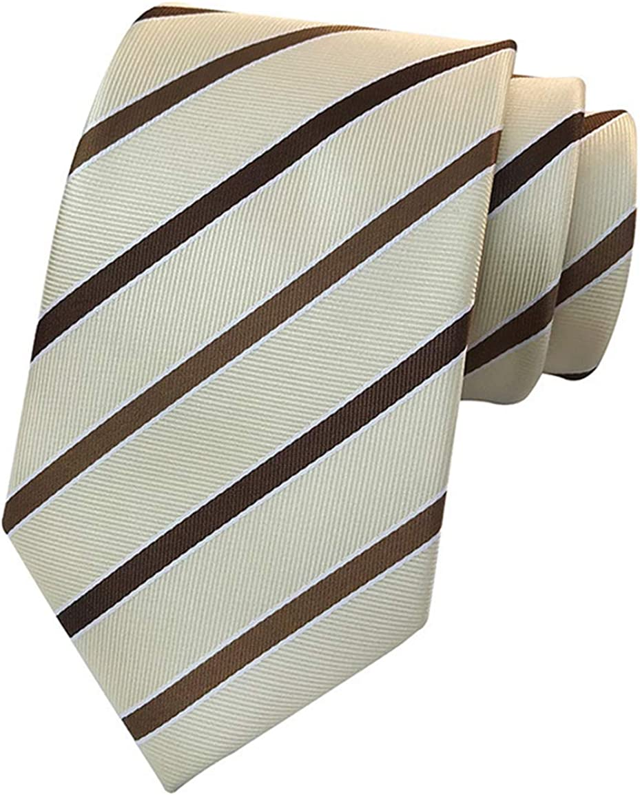 One Size, Grey and Blue MENDENG New Mens Stripe Paisley 100/% Silk Necktie Classic Striped Formal Ties
