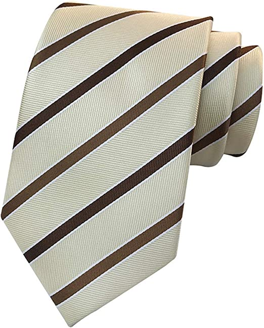 Classic Stripes Yellow Blue White 100/% Silk Men/'s Necktie Neck Tie 3.15/'/' 8CM
