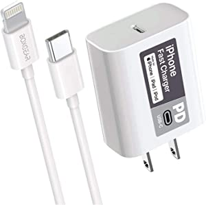 iPhone 11 Fast Charger (Aple MFI Certificate) for iPhone 11 Pro, 11 Pro Max - Boxgear 18W PD Power Adapter with USB-C to Lightning Cable, iPhone Xs XS Max XR X, MFi Certified Cord, Syncing and Charge