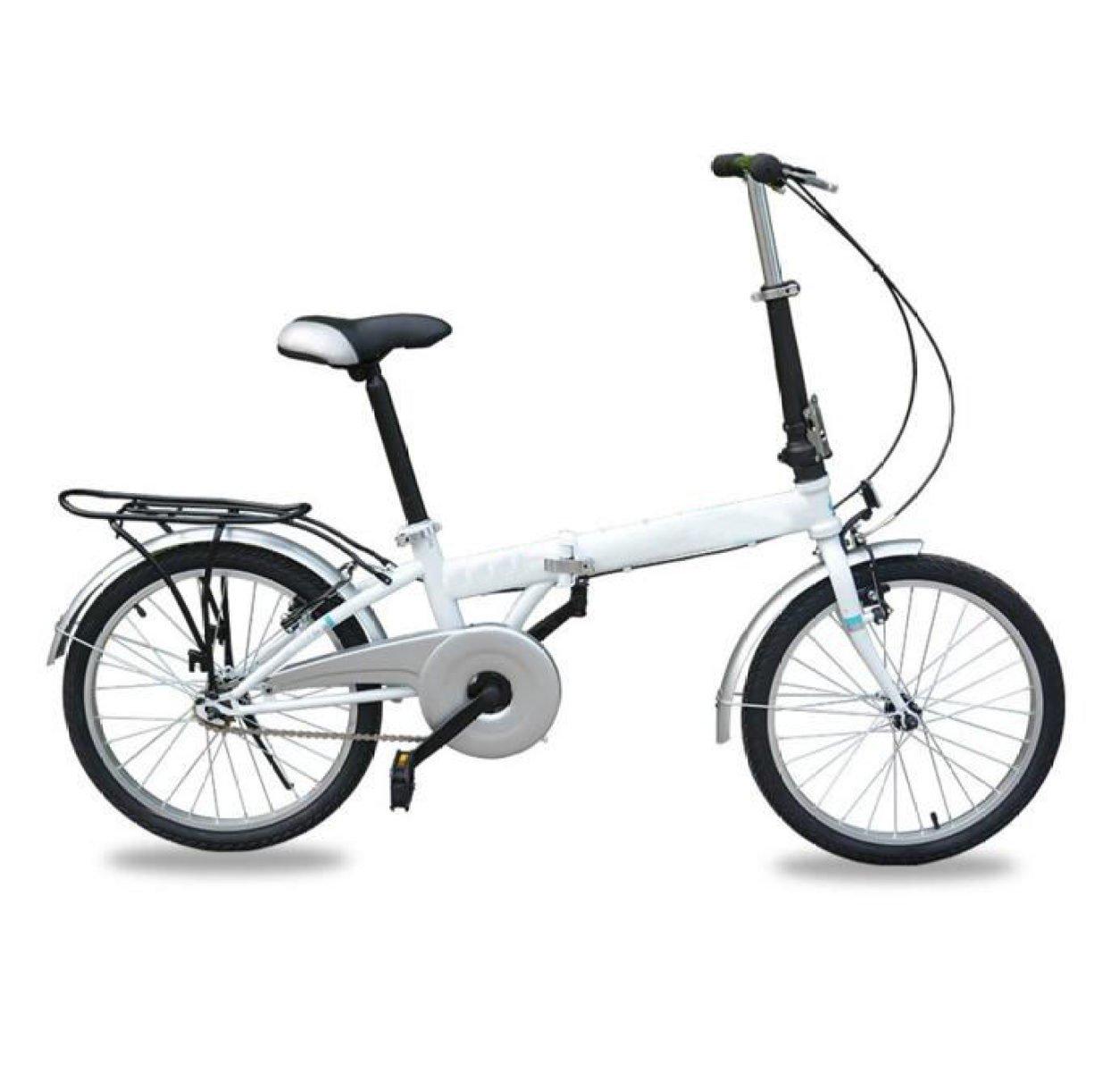 Bicicleta Plegable De Carga De Bicicleta Plegable De 20 Pulgadas Bicicleta De Ciclismo Bicicleta Mini Estudiante Regalo De Bicicleta De Coche,White-20in: ...