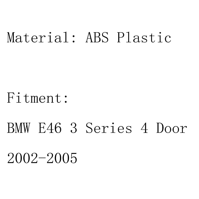 Areyourshop Paire de grilles de sport pour capot avant Chrom/é E46 2002-2005 4dr 3 Series
