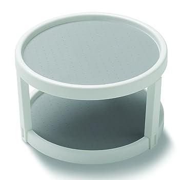 Madesmart 10u0026quot; Two Level Non Slip Twin Turntable, White