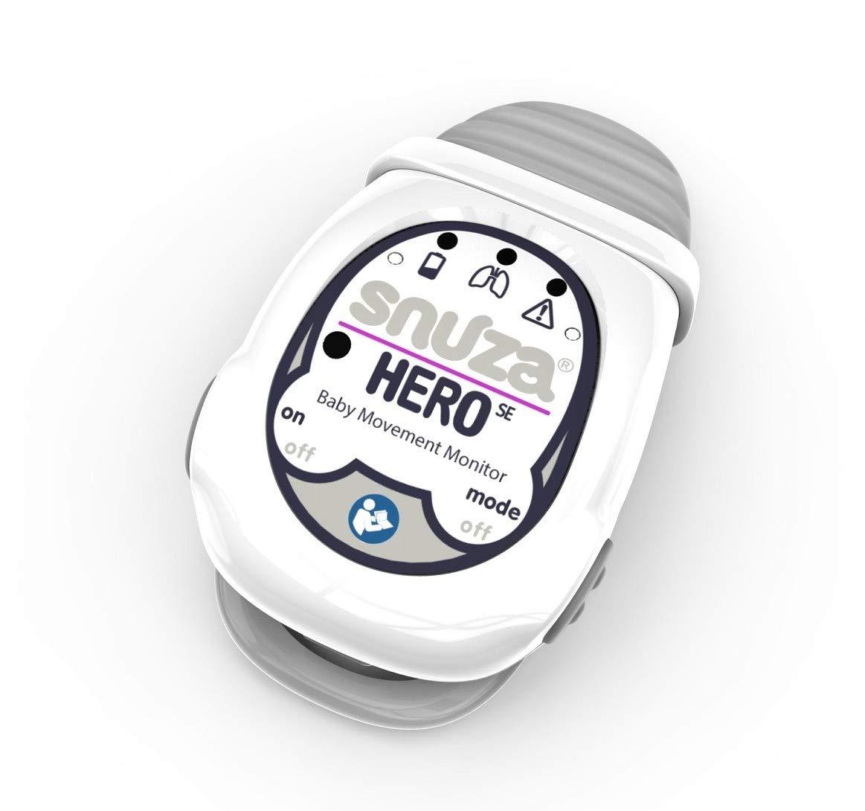 Snuza Hero (SE) Premium Baby Movement Monitor - Wearable Infant Abdominal Movement Monitor Alarm - Cordless, Long Battery Life - New Color 2019 - (Gray) by Snuza (Image #4)
