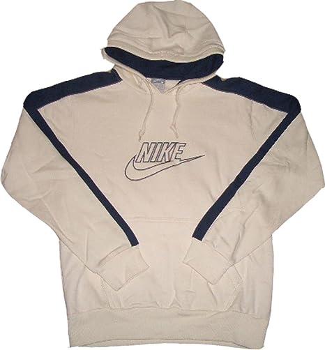 Nike Sudadera con capucha de sudadera de color blanco crema azul ...