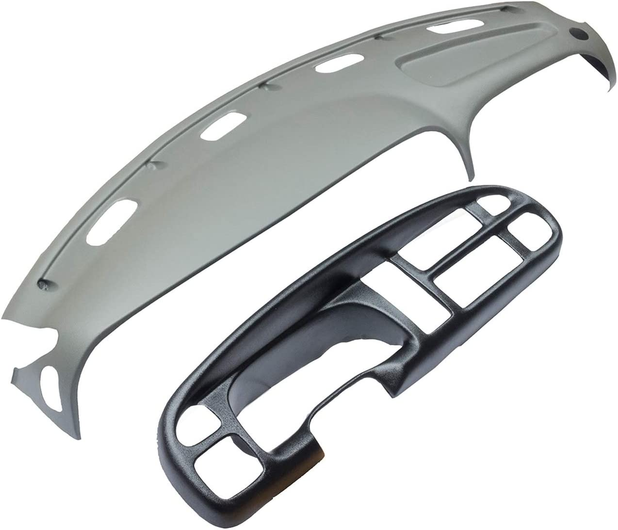 KARPAL Molded Dash and Bezel Cover Compatible With 1998-2001 Dodge Ram 1500 2500 3500 Mist Grey