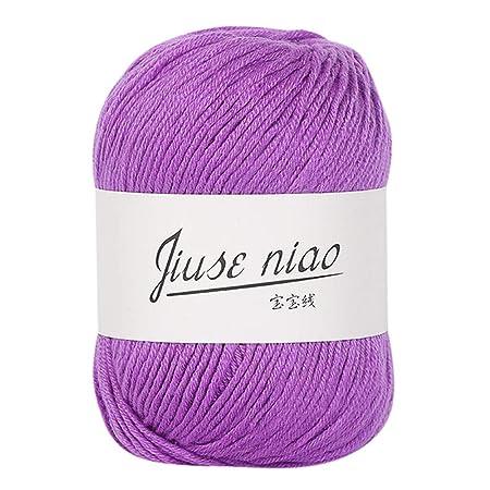 1 ovillo de 50 g de hilo de tejer surtido, para tejer a mano o ...